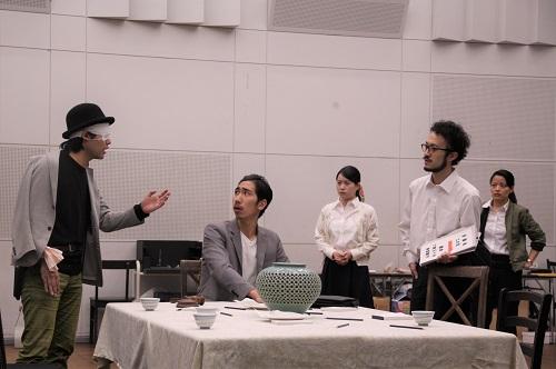 写真左から:上西郷太、河野賢治、松村こりさ、宮崎隼人、大久保眞希