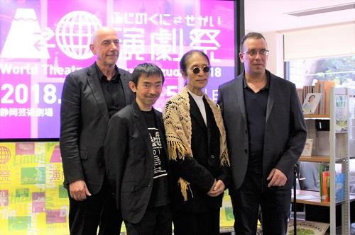 写真左から:ペーター・アンダース、宮城聰、小島章司、ヤン・ブードー