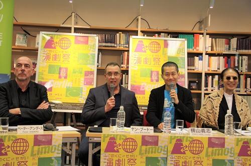写真左から:ペーター・アンダース、ヤン・ブードー、横山義志、小島章司