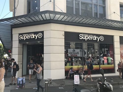 「Superdry(R)極度乾燥(しなさい)」はフランスのブランドなんですね←イギリスのブランドだそうです(2018/08/01修正)