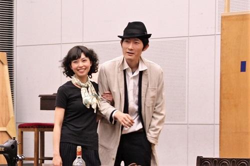 写真(左から敬称略):林真菜美、村岡哲至(第9期修了)