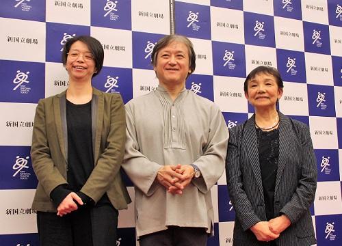 写真左から:小川絵梨子、大野和士、大原永子