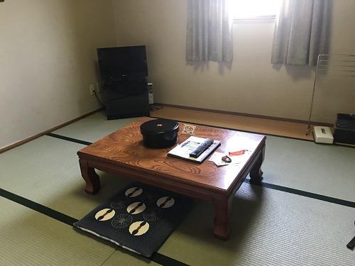 泊まった和室