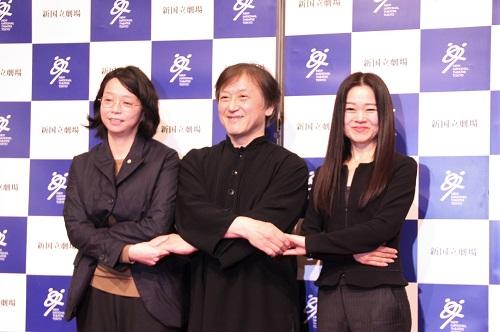 写真左から:小川絵梨子、大野和士、吉田都