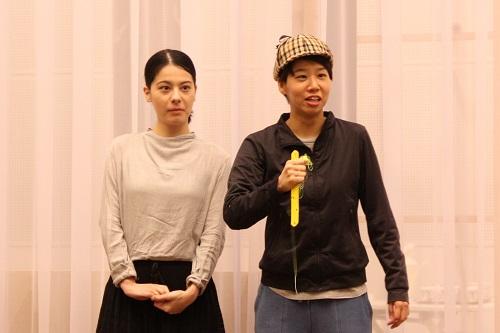 写真左から:ユーリック永扇、髙橋美帆(9期修了)