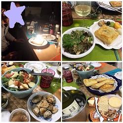 紙皿と家庭料理で家族のお誕生会